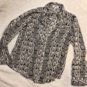 Express The Portofino Shirt snake skin pattern